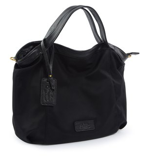 La Poche Secrete : Lightweight bag for jumping girls - lightweight nylon _ hand shoulder _M black