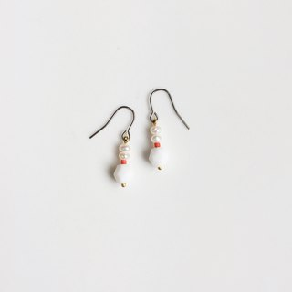 Snow wild pearl natural stone modeling earrings