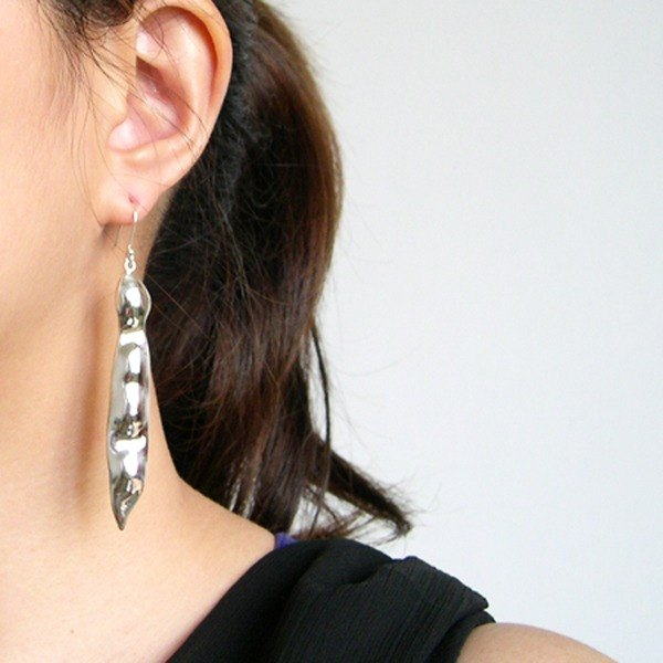 Limited - Pod sterling silver earrings