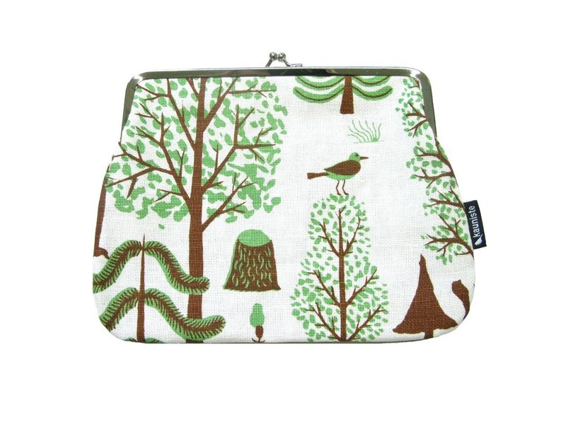 Finland Kauniste cloth cosmetic bag / Christmas gift / exchange gifts