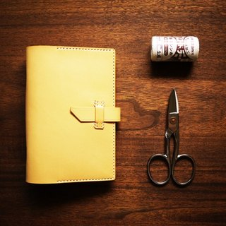 [Le Cuir] handmade leather hand-stitched leather, loose-leaf notebook Notepad / yellow brown buckle paragraph A6