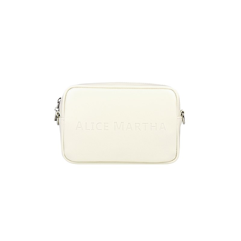 Alice Martha Square Small Side Backpack-Ivory