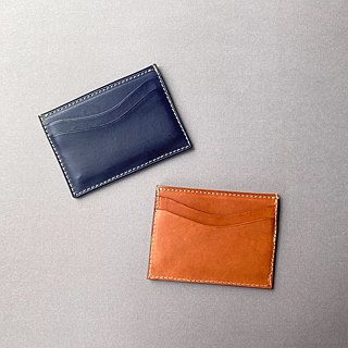 [DOZI leather hand made] bilateral business card holder can be put into 5-6 cards