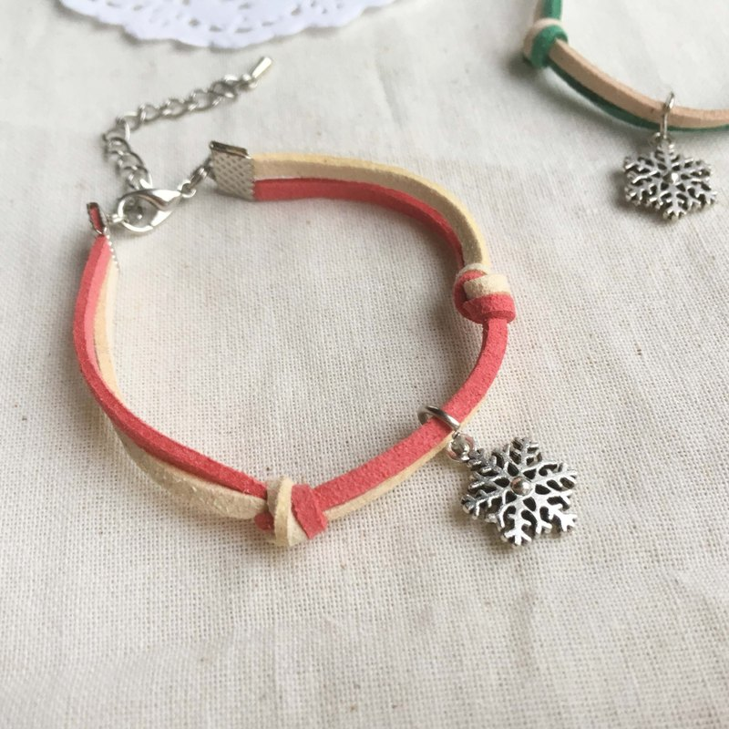 Handmade Simple Stylish Snowflake Bracelets –red limited