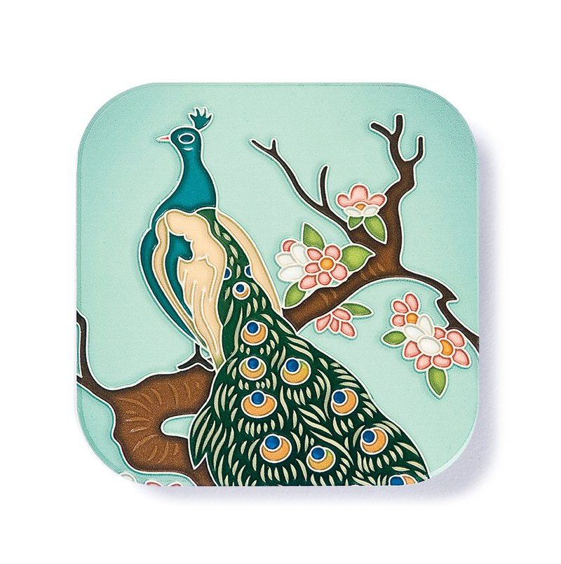 Taiwan-tile ceramics coaster / Ultimate glamour