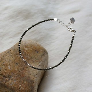 Pyrite Silver 925 Bracelet with Linear Memory Alloy