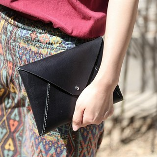 【Nong】 handmade leather goods / first layer of vegetable tanned leather / simple retro / envelope bag / wallet