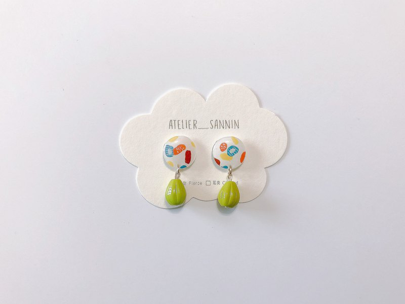 Mountain Forest Camping Series - Falling Wild Olives Handmade Sticker Ear Drops Ear/Aurture