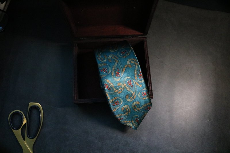 Green old flower Vintage cashew tie gentleman neck accessories necktie