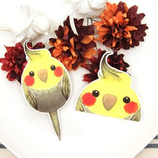 Rolia's hand made native cockatiel waterproof stickers