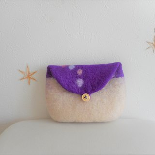 Simple, purple and beautiful pouch
