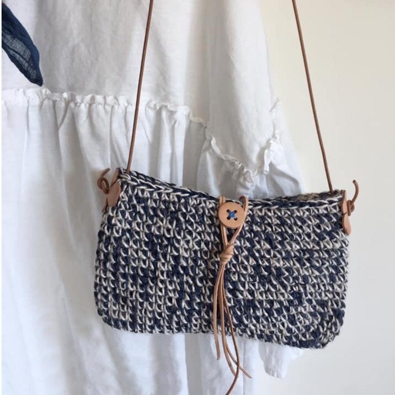 Walking bag-small blue