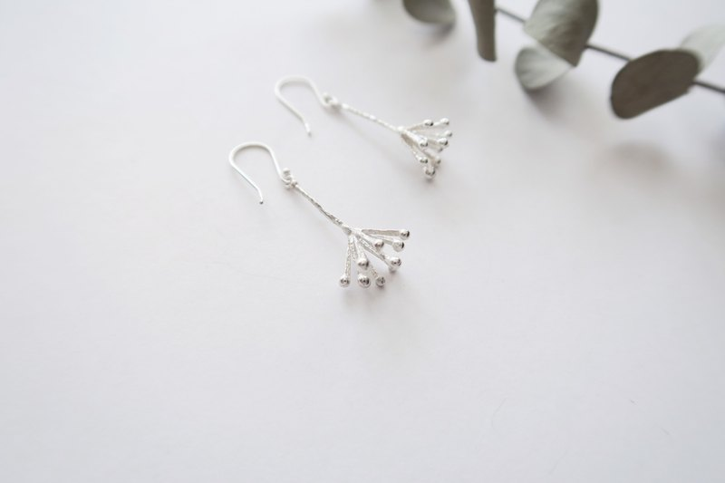 Exclusive Forest Department 925 sterling silver fireworks earrings pair