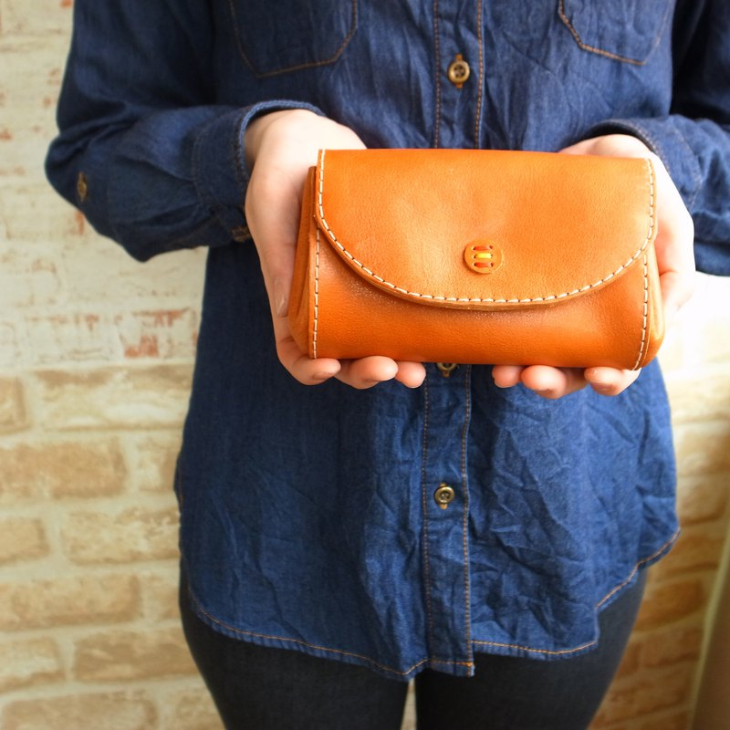 [Leather goods made in Japan] Coro Purse with zipper pocket Coin purse l Size g-23-l [Please choose the color from the following product types]