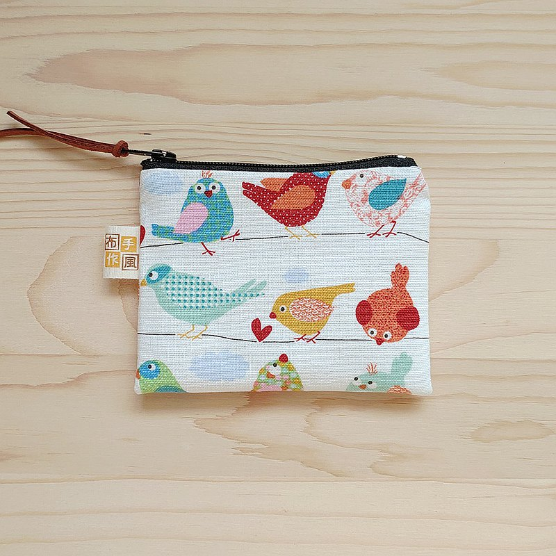 Color bird flat coin purse / left 1