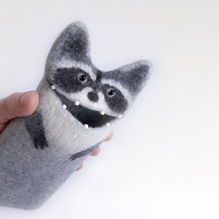 Felt Samsung Galaxy S8 case, Raccoon case, Samsung Galaxy S8 Plus case