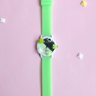 Green black LEGO watch