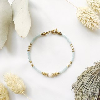 Gaia Series - Amazonite Brass Bracelet