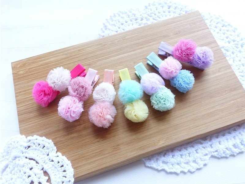 Cute candy color small ball ball hairpin (multi-color)