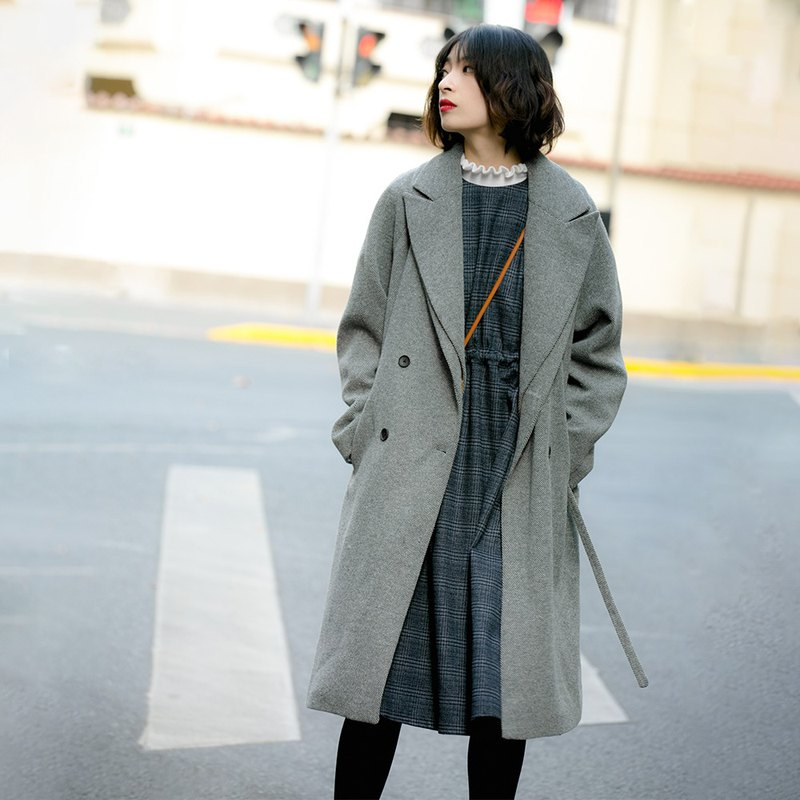 Double-necked wool-blend coat|Jacket|Coat|Winter|Wool blend|Sora-385