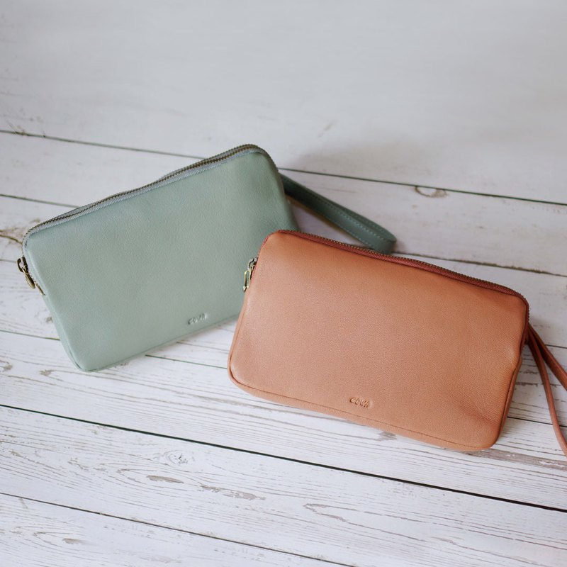 ToFu0590 double zip shoulder bag | two colors