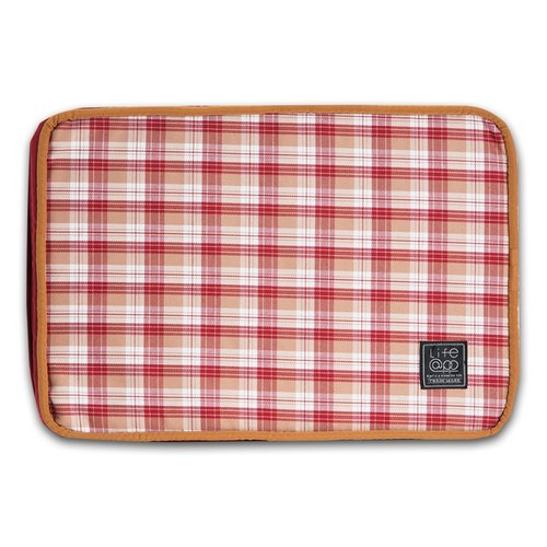"""Lifeapp"" mattress replacement cloth cover XS_W45xD30xH5cm (Red Plaid) without sleeping mats"