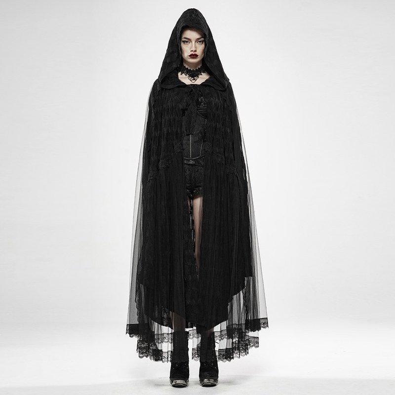 Gothic Fallen Angel Hat Cape