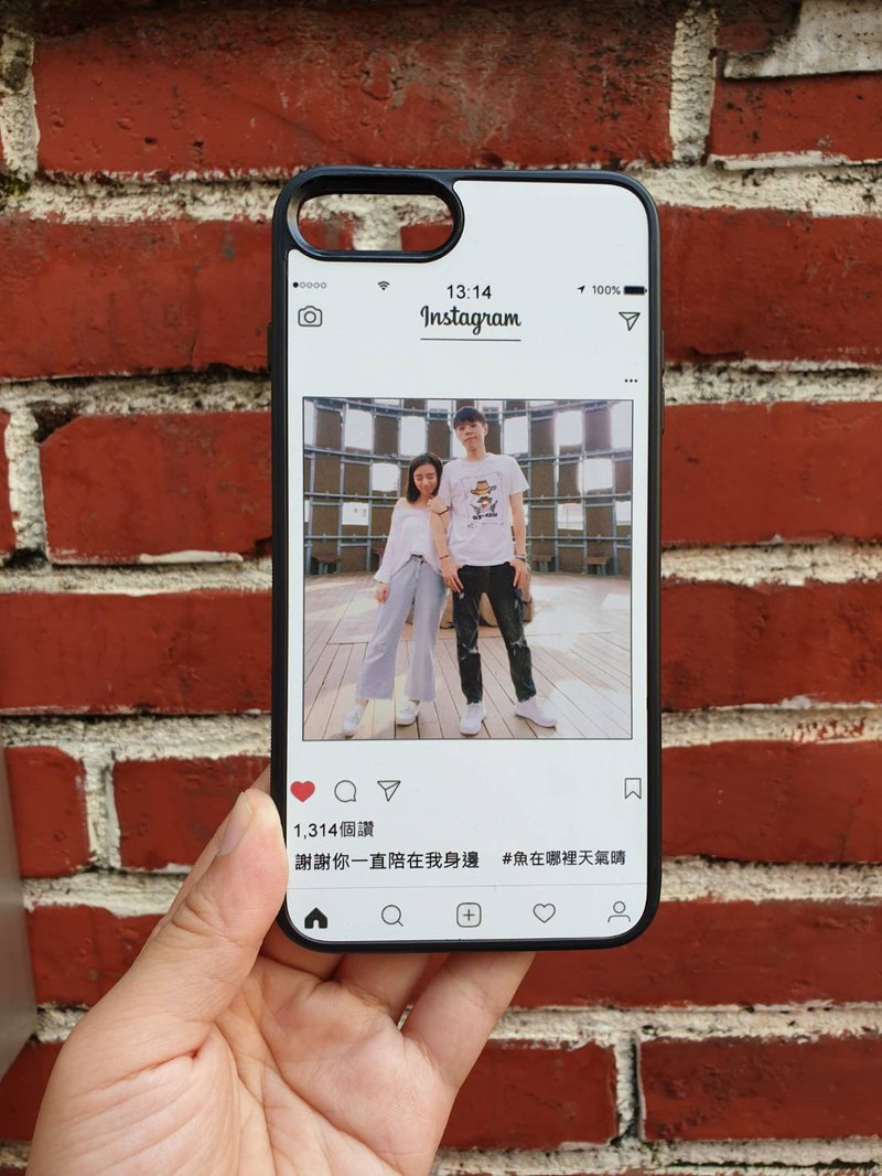 Photo plus word [couple commemorative PO text] customized mobile phone case can also draw your Q version G38 community models