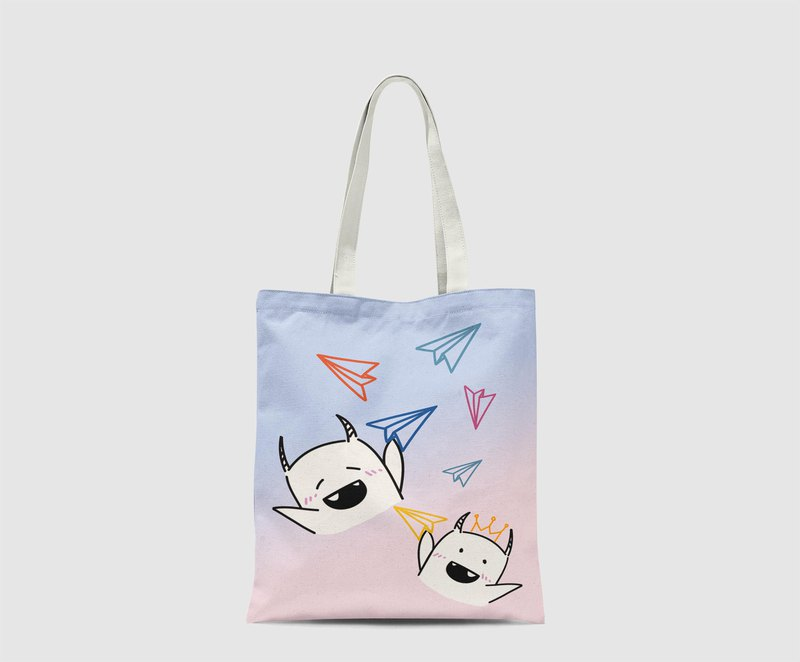 Little monster Pattern Tote Bag