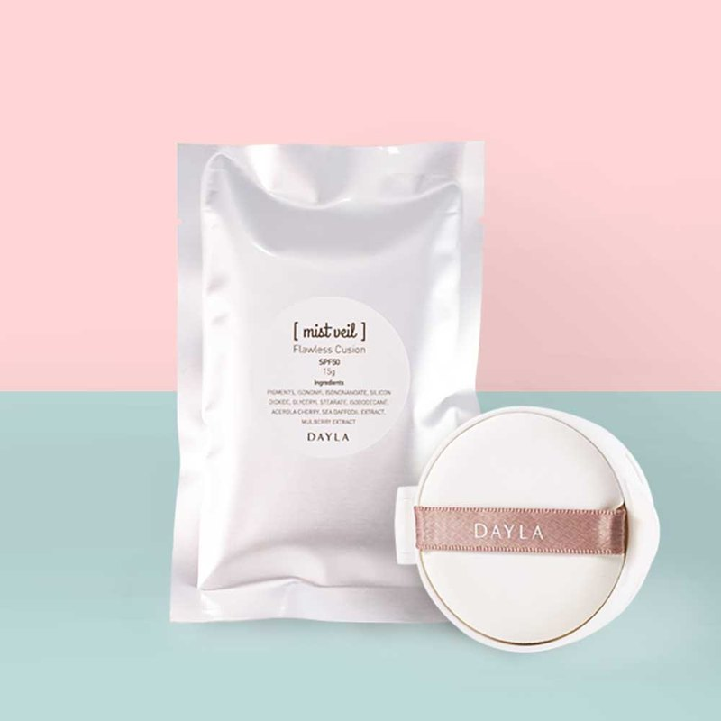 Refill- flawless cushion compact SPF 50 (15g) - the special puff included