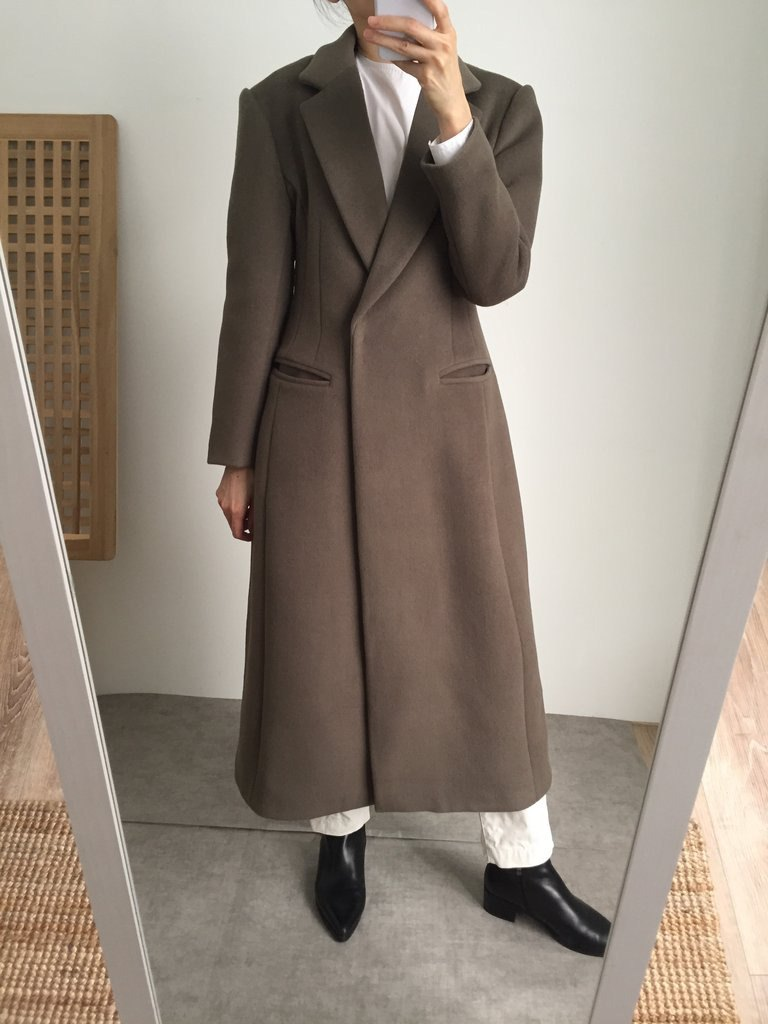 Inverness Coat Wide Shoulder Extremely Long Lapel Double-Sided Wool Coat Multicolor / Customizable