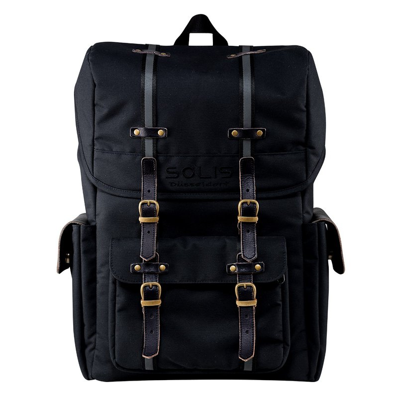 "SOLIS Hiker Series 13"" Square Laptop backpack & camera backpack(black)"