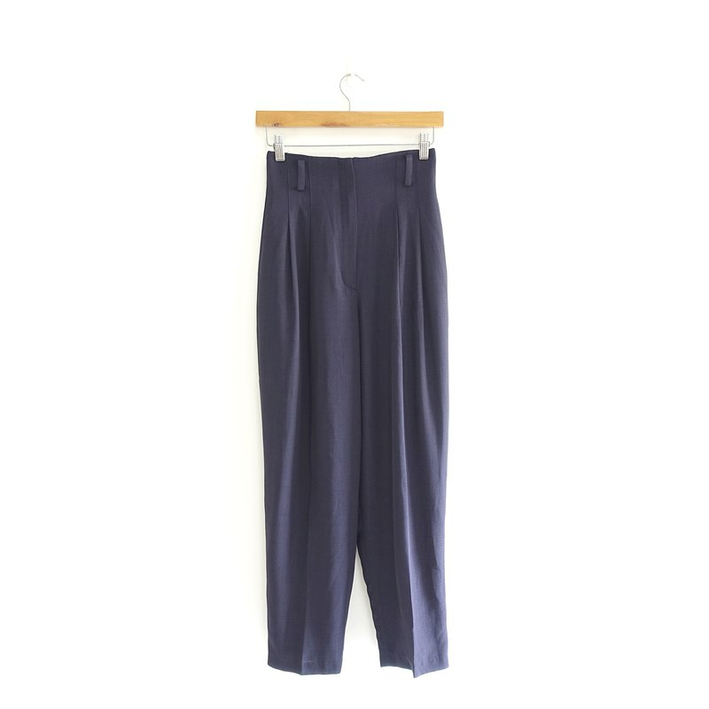 │Slowly│ intellectual dark blue - vintage high waist pants │vintage. Retro. Literature