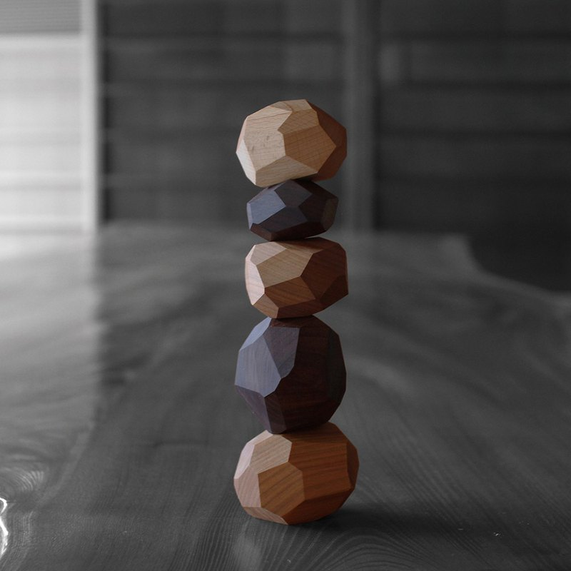 Tumi-isi Stacked Stones-Hardwood MIX- Original Japanese