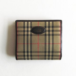 A ROOM MODEL - VINTAGE, within the BD-0523 Burberry plaid bag of gold coins short clip