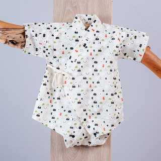 Japanese-style peace and harmony - onion balls hand-made non-toxic yukata very flat baby children's clothing