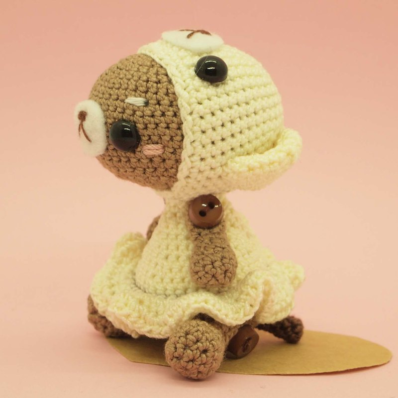 crochet doll/amigurumi/key chain/white bear costume【made-to-order】