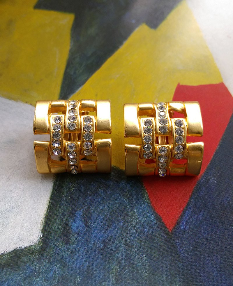 [Western antique jewelry / old age] fashion style clip earrings