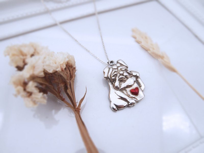 A lifetime of love series __ drinking drunken dog sterling silver pendant (single price)