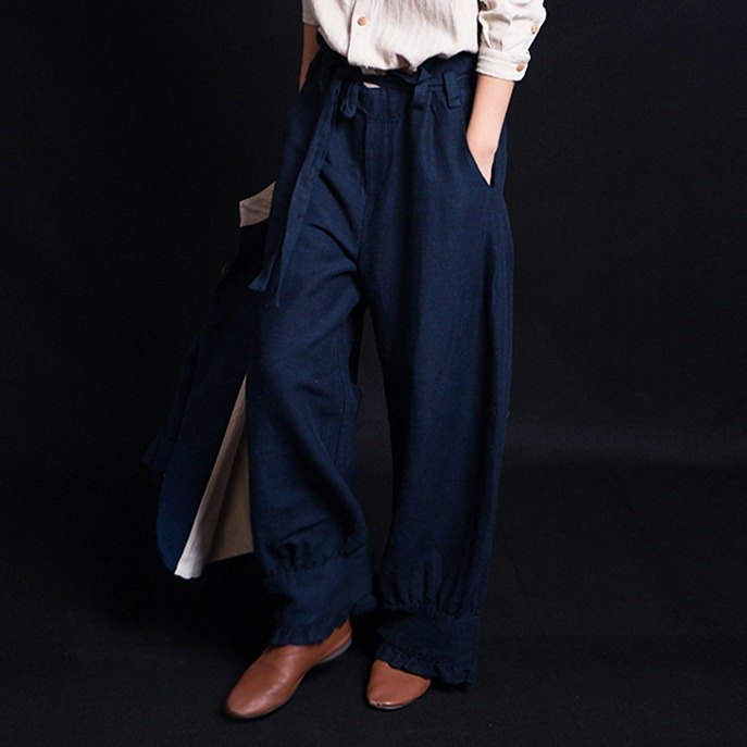 Yunnan 麻麻 loose large size wide leg pants