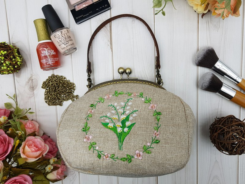 Lily of the valley flower ring bag-2 mobile phone bag cosmetic bag birthday mother's day gift