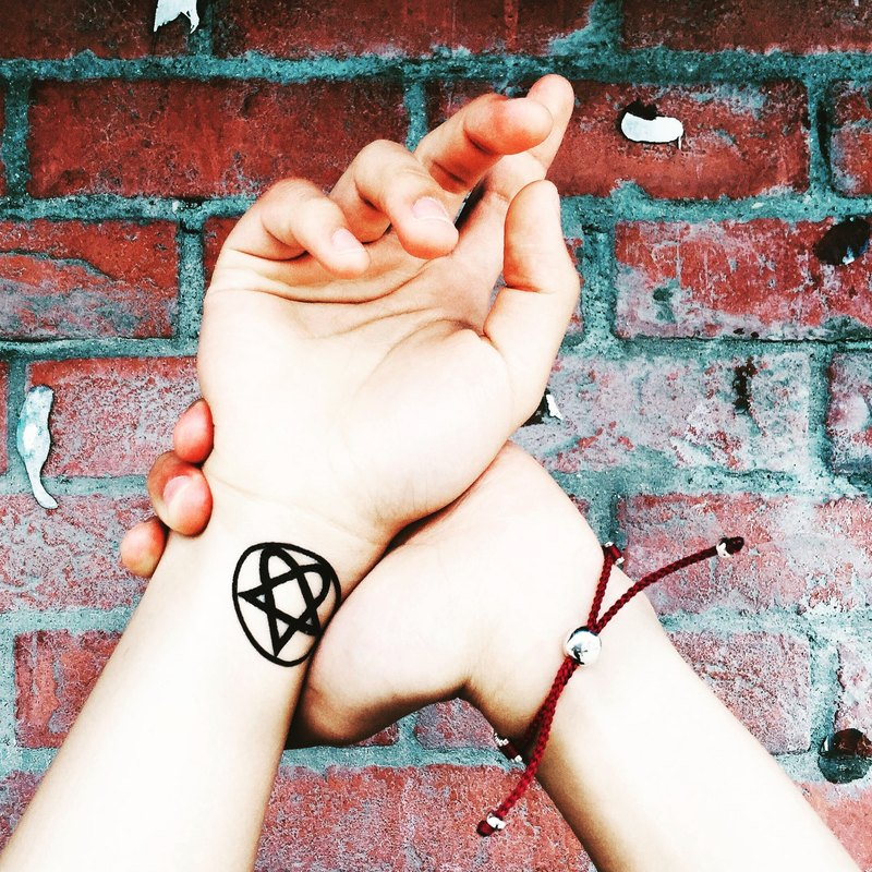 Heartagram Temporary Tattoo Sticker (Set of 2)