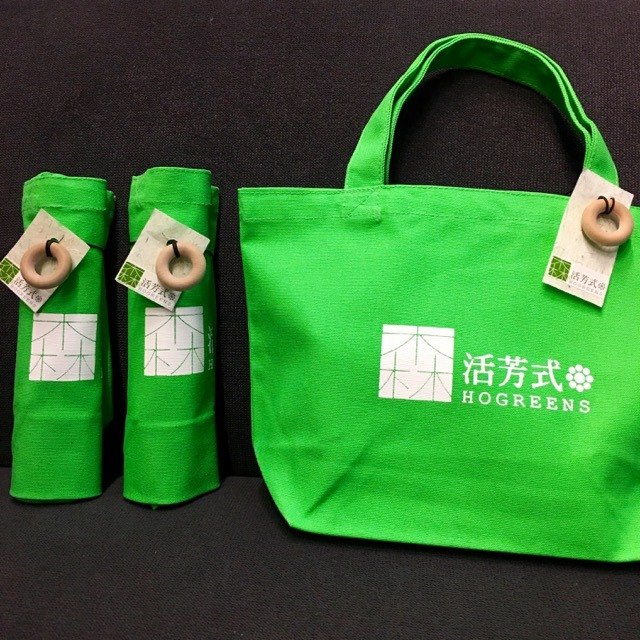 Donuts canvas bag (green)