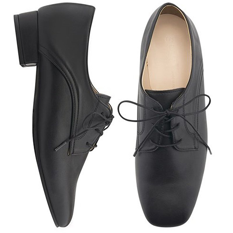 PRE-ORDER SPUR square-toe oxford PA8012 Black