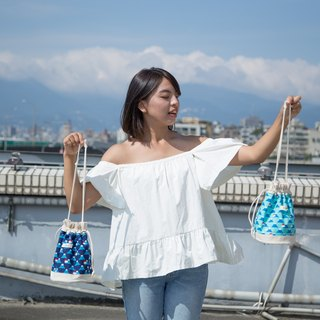 Mount Fuji / Japanese Cotton print / Shoulder bag  crossbodies  bucket bag