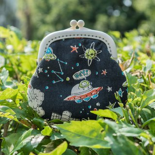 When I was young, I wanted to go to outer space coin purse #小口金包#可爱#搞笑#涂鸦