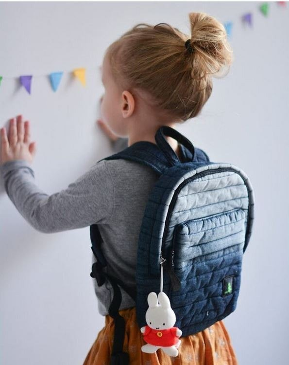 Italy fashion traveling cute mini backpack  STONE WASHED DENIM  (lady or kids)