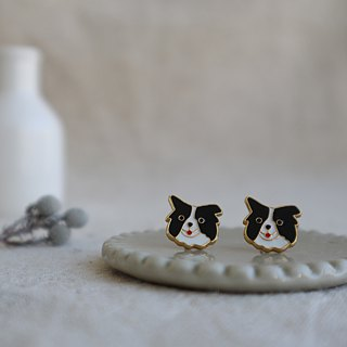 Border Collie Handmade Pin Earrings