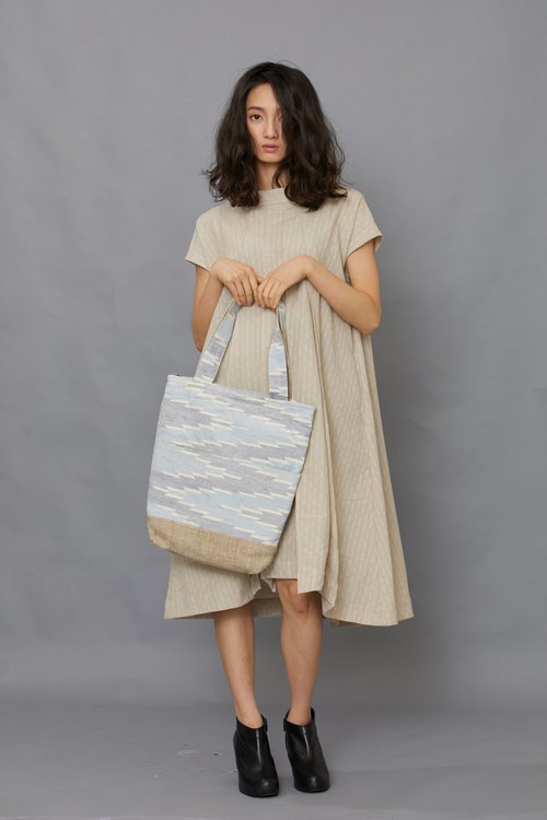 Dhaka weave long bag - gradient sky - fair trade
