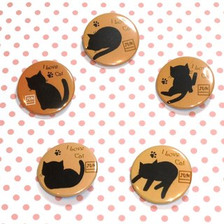 Badge~Cat Silhouette Badge Set